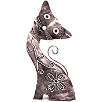 Chat en Fer Forgé Déco Métal 30 cm artisanal animal Collection statue statuette