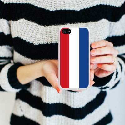 Apple iPhone 5s Housse Étui Protection Coque Pays-Bas Hollande Drapeau Housse en silicone blanc