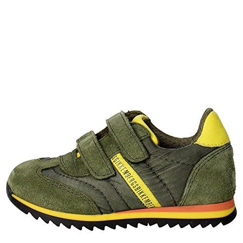 Bikkembergs Bkp102334 Tênis Menino Verde / Amarelo