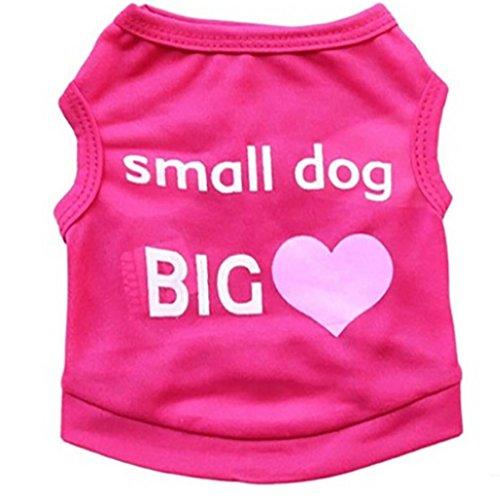 Für Kostüm Chihuahua Dog Hot - Hmeng Hot Dog Weste Kleine Hund Große Haustier Kleidung Kleidung Weste Kostüme Sommer (L, Rot)