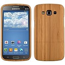 kwmobile Funda para Samsung Galaxy Grand 2 - Case protectora de madera bambú - Carcasa dura marrón