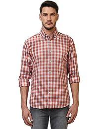Colorplus Men's Checkered Slim Fit Casual Shirt