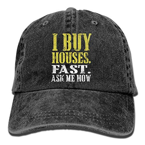 I Wanna Buy A House Denim Hat Adjustables Mini Baseball Caps