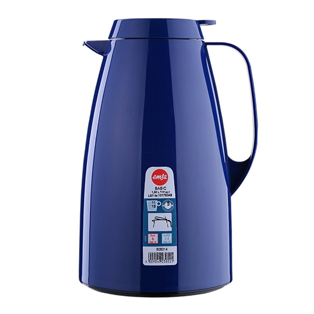 EMSA - Caraffa termica Basic Quick Tip, 1,5 L, colore: blu