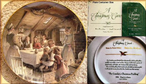 1991 A Christmas Carol Collector's Assiette en porcelaine fine