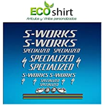 Ecoshirt Y6-FY38-VNOU Pegatinas Stickers S Works Specialized Aufkleber Decals Autocollants Adesivi R84