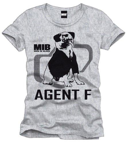 Men in Black T-Shirt Agent F größe: XL -