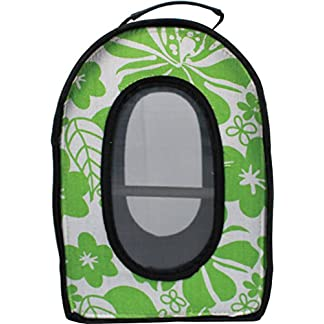 A&E Cage Company 001377 Happy beaks Soft Sided Travel Bird Carrier Green, 14.5X10.5X7 in 51h8 2Bw0erDL