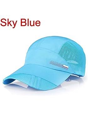 Solid Unisex Baseball Hat Deporte ejecuta Visor de malla de secado rápido al aire libre tapa ,el cielo azul HNAA