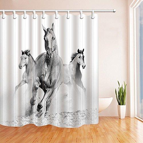 Flamingo Print Dusche Vorhänge Polyester-152,4x 182,9cm-Badezimmer Vorhang Set mit Stufenmatten Teppiche 23,6x 15,7inch-12Haken (Pop Art Frau Kostüm)