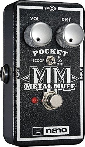 ELECTRO HARMONIX POCKET METAL MUFF   PEDAL DE DISTORSION PARA GUITARRA  COLOR PLATEADO