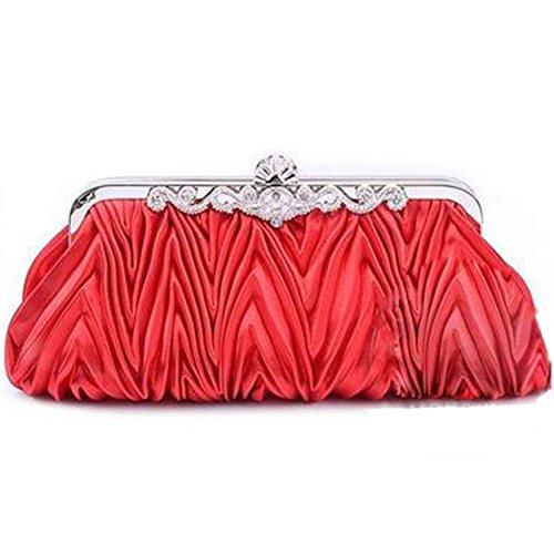 Spritech (TM) sera, da donna, Vintage, a forma di busta, per Cocktail Party Bags-Borsa a tracolla, borsa a tracolla, colore: bianco, Rosso