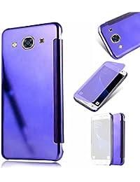 Galaxy J3 2016 Caso,MingKun Samsung Galaxy J3 2016 J320 Funda de Cuero Funda Libro de Cuero Impresión de Suave PU Premium Cuero Fundas Protección De Cuerpo Completo Carcasa Case
