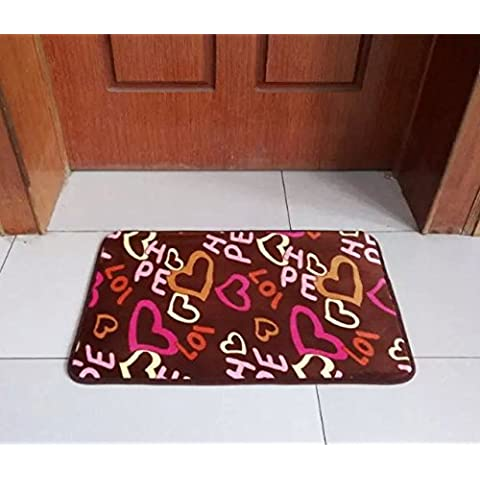 Moderno vello di corallo anti-slittamento tappeto,cuore,120*160 cm spot