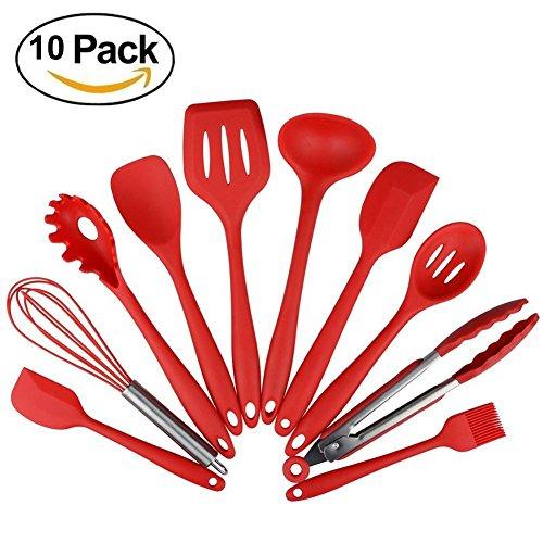 Kexin®Silikon Küchenhelfer Set 10 Stück Perfekt zum Kochen und Backen Küchenzubehör
