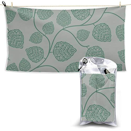 lmfshop asciugamani in microfibra con erbe aromatiche e menta piperita asciugamani ad asciugatura rapida per campi da viaggio asciugamani asciutti asciugamani asciutti per sport 27,5 `` x 51 '' (70