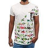 Just Rhyse Herren Oberteile / T-Shirt Floral grau L