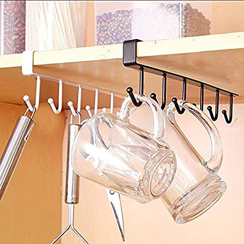 Küche Lagerung Rack Schrank Hängen Hake Aufhänger Chest Storage Organizer Küche Eck Speicher Zahnstange Halter (Schwarz) -