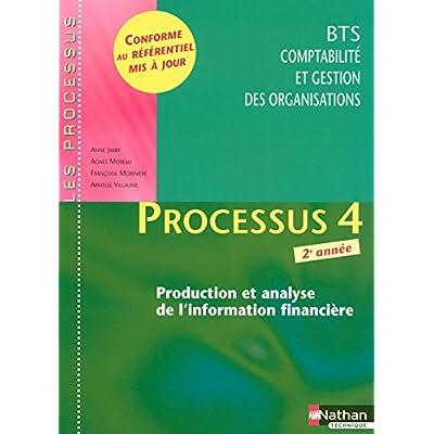 Processus 4 - Production et analyse de l'information financière - BTS CGO 2e année
