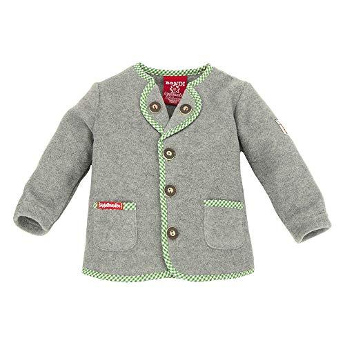 BONDI Trachten Fleecejacke, Grey-Melange 104 Tracht Baby Jungs Artikel-Nr.91075