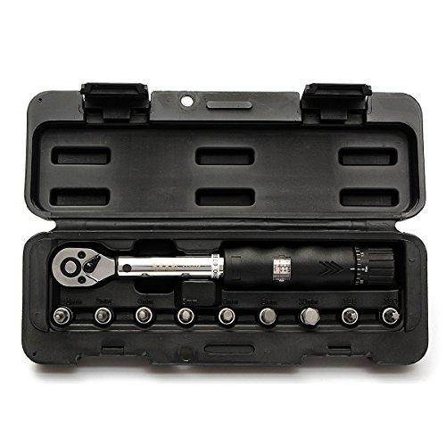 DyNamic Einhaltig 4Inch Drive 2-14Nm Bike Car Drive Torque Wrench Key Tool Socket Set Kit -