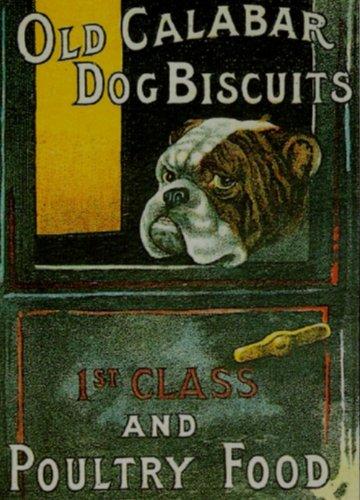 S1027SMALL OLD CALABAR Hunde Kekse Metall Werbung Wand Schild retro Art