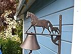 Türglocke-große schwere außergewöhnliche Türglocke-sehr stabile Türglocke Pferd und Fohlen- sehr stabil- mit schönem Klang-für Haus und Garten