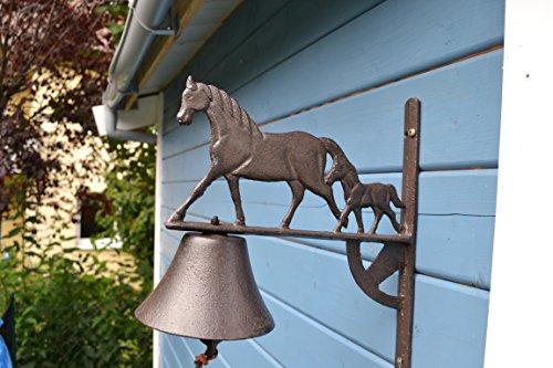 Türglocke-große außergewöhnliche Türglocke-sehr stabile Türglocke Pferd und Fohlen- sehr stabil- mit schönem Klang-für Haus und Garten
