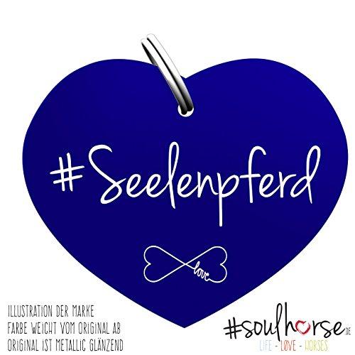 Pferde Glücksmarke #Seenpferd Blau – Gücksbringer - Soulhorse Anhänger Halfter, Trense, Zaumzeug, Sattel, Vorderzeug, Geschenk Reiter