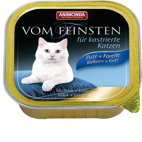 """Animonda Von Feinsten für kastrierte Katzem """"mit Pute & Forelle - 1x 100g Schale"""