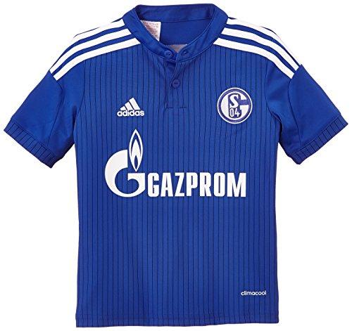 adidas Jungen Kurzarm Heimtrikot Schalke 04 Replica Bold Night Blue/White, 140 -