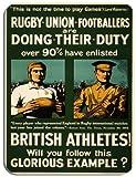 Vintage Rugby Football Poster Tapis de souris. Recrutement de l'armée les athlètes de souris...