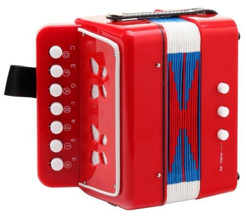 Classic Cantabile 32271 - acordeón para niños,2 bajos, color rojo