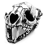 Best Adisaer Friend Necklaces Animals - Stainless Steel Men Pendant Necklace - Dinosaur Skull Review