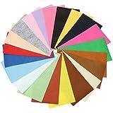 HITSAN 21Pcs Colorful Felt Fabric Sheet Non-Woven For Art Handicraft Sewing DIY Patchwork 10x30cm One Piece