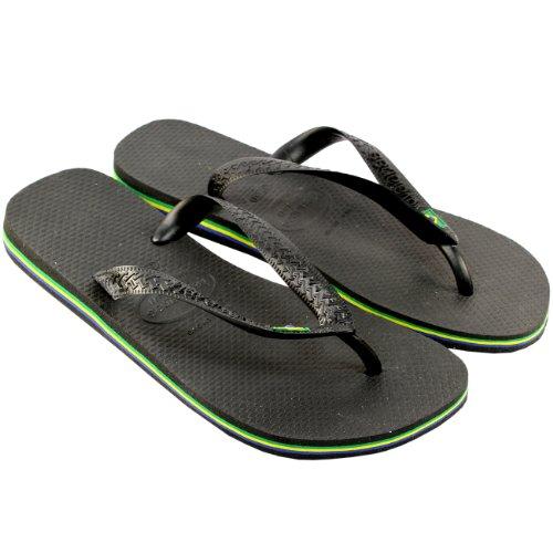 Herren Sandalen Havaianas Brasil Flip Flop Sandals Schwarz