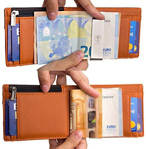 """TRAVANDO ® Geldbörse mit Geldklammer """"LONDON"""" - 4"""