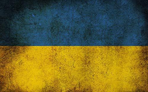 1000 Piezas Rompecabezas De Madera Bandera Ucraniana Patrón...