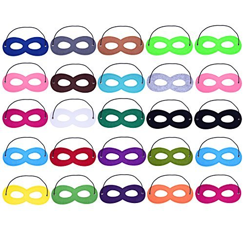 perhero Cosplay Hälfte Party Filz Eye Masken mit elastischem Seil, multicolor ()