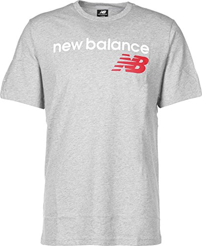 Athletic-logo T-shirt (New Balance Athletics Main Logo T-Shirt Herren grau, L)