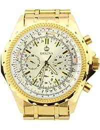 Orkina blanco cronógrafo de acero inoxidable reloj de pulsera de Color oro PO004SGW