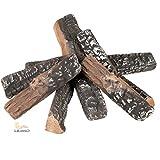 Keramikholz 8-teilig, Holzimitat aus Keramik für Ethanolöfen, von LILIMO