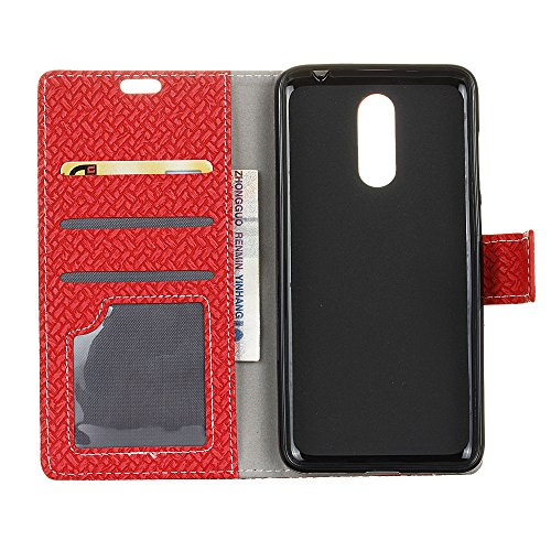 Alcatel A3 Plus Funda Faux Cuero Billetera Funda para Alcatel A3 Plus con Stand Funci  n Rojo