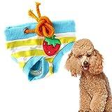 Binglinghua® Wiederverwendbar Waschbar Pet Hund Windel Straps Sanitär physiologischen Pantie Unterwäsche Weiblich Hund Hosen, S, Blau