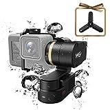 Feiyu WG2 3-Achsen Kardanring, FeiyuTech Aktualisiert Wasserdichte tragbare Action-Kamera Kardanring für GoPro Hero 6/5/4, AEE, SJCam, YI 4K und ähnliche Anforderungen, mit Tragetasche und Stativ
