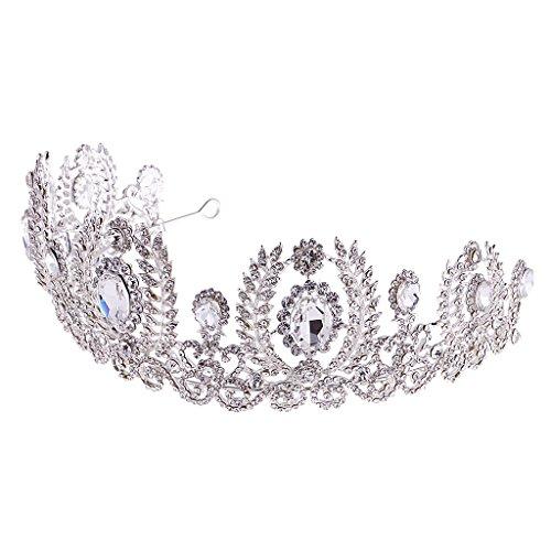 MagiDeal Mädchen Blume Perlen Stirnband Kopfstück Haarschmuck Kostüm - Strass - Frieden Mädchen Kostüm