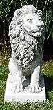 Beton Figur Löwe links blickend H 35 cm Dekofigur und Gartenskulptur