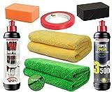 APS - Autopflege-Shop.de Menzerna HC400 + SF3500 Premium Politur-Set +2 Microfasertücher + Polierzubehör (Handpolierset)