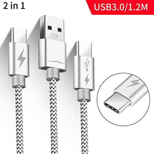 USB C Kabel Typ C Kabel auf usb 3.0, 1.2M, 2 in 1, Schnell Ladenspeed/Datentausch, Superspeed aufladen, Nexus 5x/6p, Samsung S7/8+S7/8/Note8,LG V20/G5/G6,Blackberry one key Plus 2/3, Lumia950/950XL,
