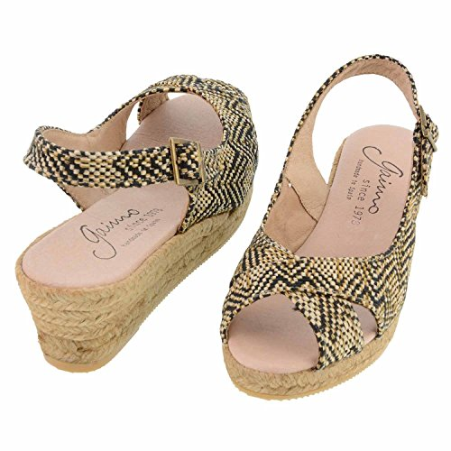 sandali peep-toe 37 Colore: NEGRO